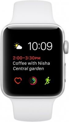 Умные часы Apple Watch 42mm Silver Aluminum Case with White Sport Band Series 1