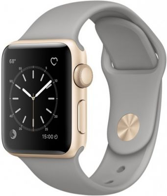 Умные часы Apple Watch 38mm Gold Aluminium Case with Concrete Sport Band Series 2