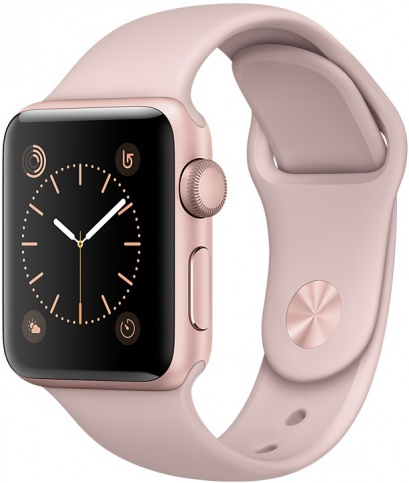 Умные часы Apple Watch 38mm Rose Gold Aluminum Case with Pink Sand Sport Band Series 2