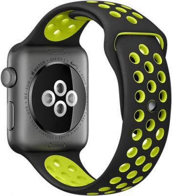 Apple Watch Nike+ 38mm Space Gray Aluminum Case with Black/Volt Nike Sport Band