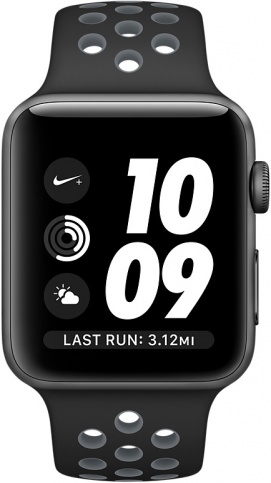 Apple Watch Nike+ 42mm Space Gray Aluminum Case with Black/Cool Gray Nike Sport Band