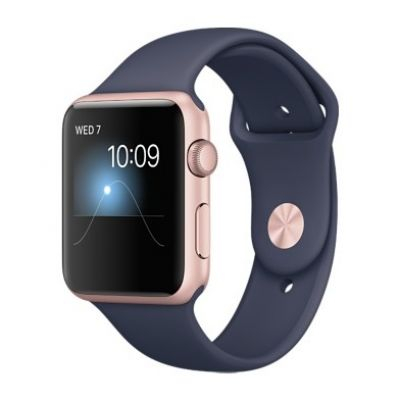 Умные часы Apple Watch 42mm Rose Gold Aluminium Case with Midnight Blue Sport Band Series 1