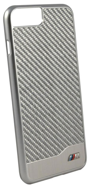 Задняя накладка BMW M-Collection Aluminium&Carbon for iPhone 7 Plus (Серебристый)