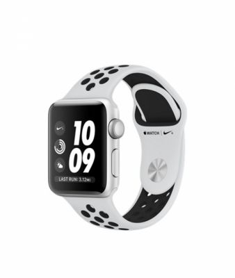 Apple Watch Series 3 38mm Silver Aluminum Case with Pure Platinum/Black Nike Sport Band