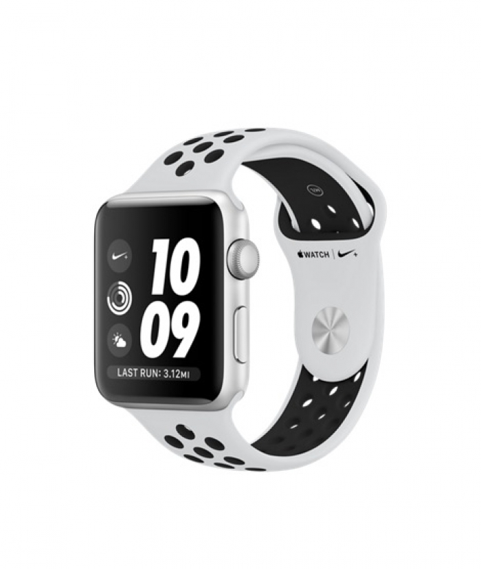 Apple Watch Series 3 42mm Silver Aluminum Case with Pure Platinum/Black Nike Sport Band