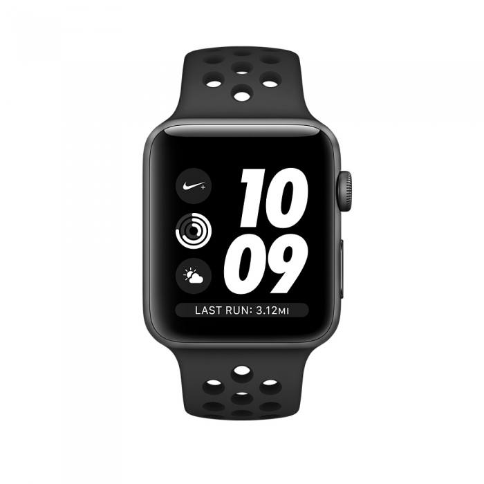 Apple Watch Series 3 38mm Space Gray Aluminum Case with Anthracite/Black Nike Sport Band
