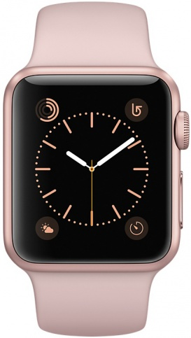 Умные часы Apple Watch 42mm Rose Gold Aluminum Case with Pink Sand Sport Band Series 2