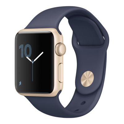 Умные часы Apple Watch 42mm Gold Aluminium Case with Midnight Blue Sport Band Series 2