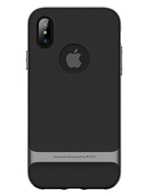 Задняя накладка для iPhone X Rock Royce series (Серый)