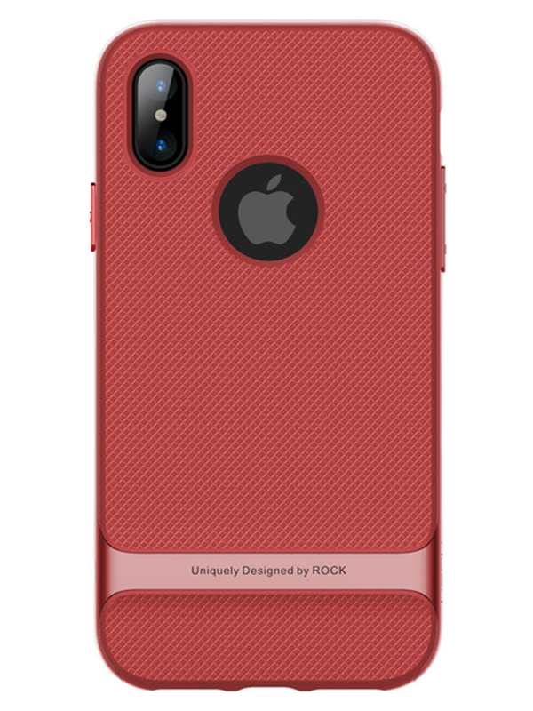 Задняя накладка для iPhone X Rock Royce series (Красный)