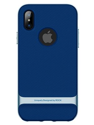 Задняя накладка для iPhone X Rock Royce series (Синий)