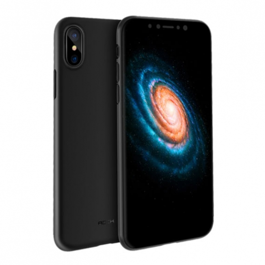 Чехол накладка Rock Naked shell series PP для iPhone X (Черный)