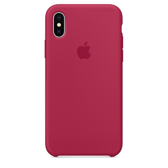 Silicon Case Original for iPhone X (Красная роза)