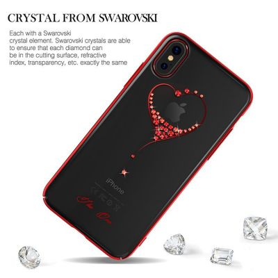 Чехол с Swarovski KINGXBAR Wish Series for iPhone X (Красный)