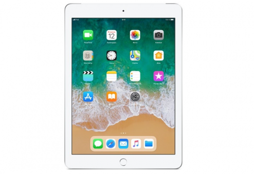 Планшет Apple iPad 2018 128Gb Wi-Fi + Cellular (Серебристый)