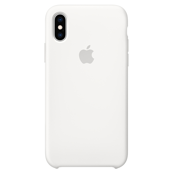 Silicon Case Original for iPhone XS Max (White)