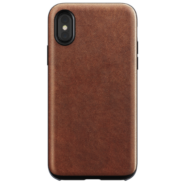 Чехол Nomad Rugged Leather для iPhone Xs Max (Brown)