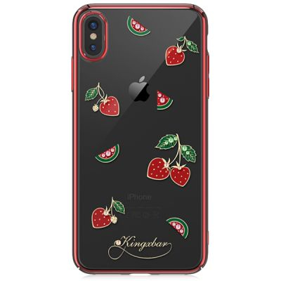 Чехол Kingxbar Tropical Series для iPhone Xs Max (Strawberry)
