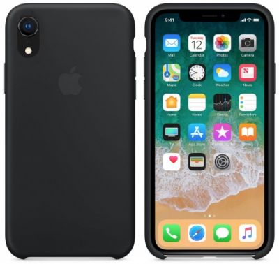 Silicon Case Original for iPhone Xr (Black)