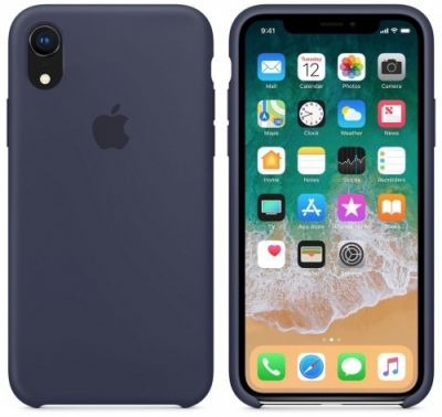 Silicon Case Original for iPhone Xr (Navy Blue)