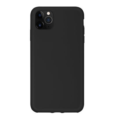 Чехол для iPhone 11 Pro Max Liquid Silicone (Черный)