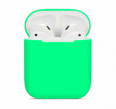Чехол для AirPods Blueo NEW Liquid Silicone Craft (Green)