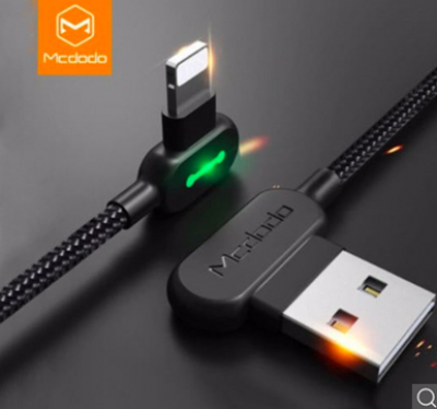 Кабель McDodo USB/Lightning 90° Degree Fast Charging 0,5m