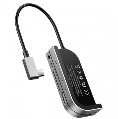 Хаб Baseus Bend Angle No.7 Multifunctional (USB+HDMI+SD/TF+minijack)