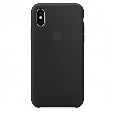Silicon Case Original for iPhone X/Xs (Черный)
