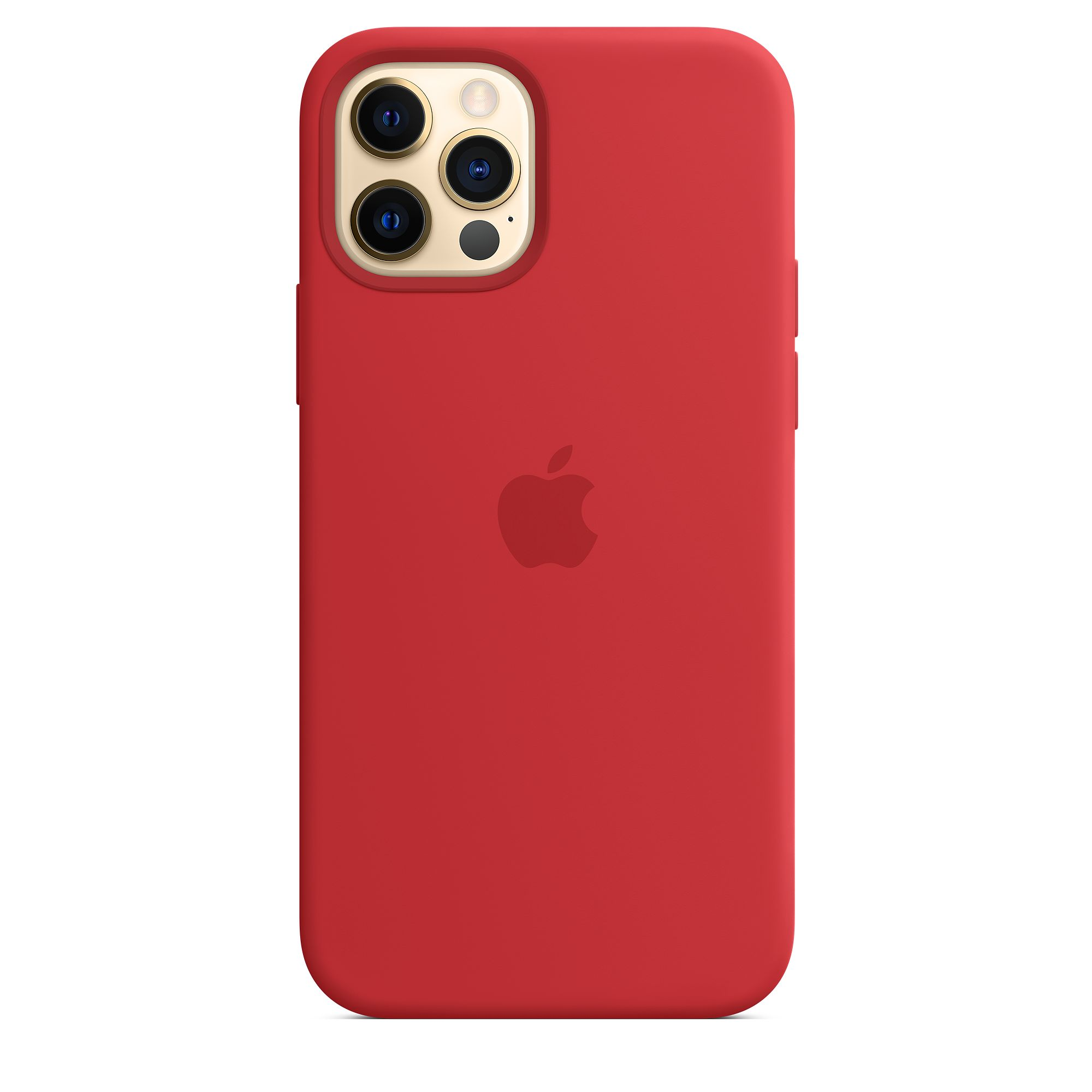 Silicon Case for iPhone 12 Pro Max (Red)