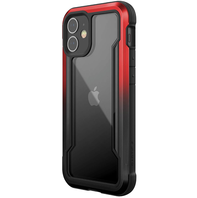 Накладка Raptic Shield для iPhone 12 Mini X-Doria (Черно-красный)