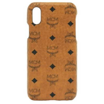 Накладка MCM кожа для iPhone X/Xs (Brown)
