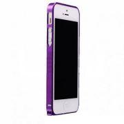 Бампер металлический для iPhone 5S Cross Line в ассортименте (Фиолетовый)