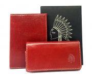 Набор для iPhone 5/5S горизонтальная кобура+обложка для паспорта SUBUS (Бордовый)