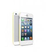 Deppa Бампер Slim iPhone 5, белый/желтый 63122