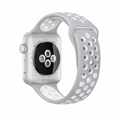 Apple Watch Nike+ 42mm Silver Aluminum Case with Flat Silver/White Nike Sport Band
