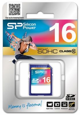 Карта памяти Silicon Power SDHC Card 16Gb Class 10
